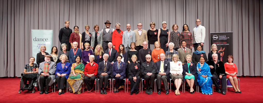 Top dance names gather for historic photograph to celebrate honours for services to dance