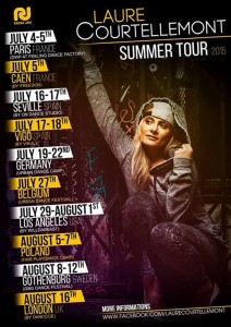Laure Courtellemont Summer Tour 2015