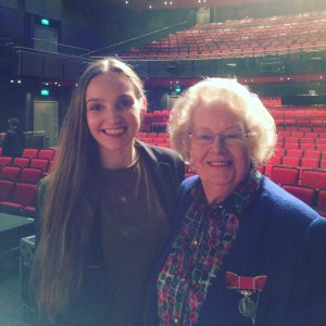 Me and Nan on Sadler's Wells main stage