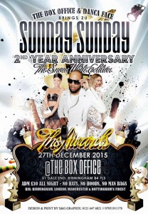 Sunday Sunday at Box Office, Birmingham