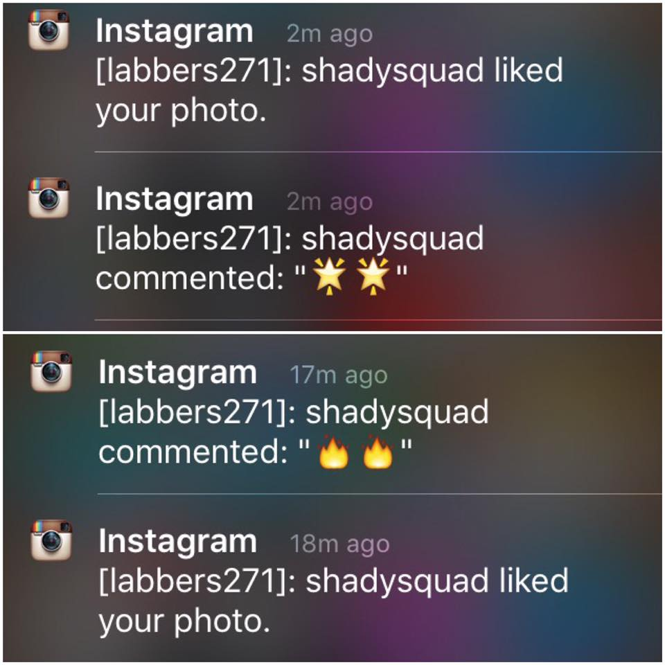 Shady Squad like my pictures!