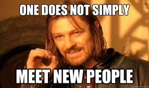 Networking is just meeting new people