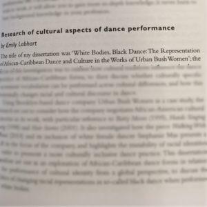 Dance dissertation help